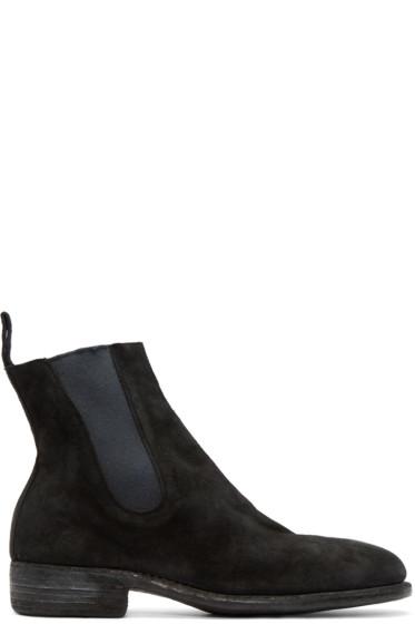 Guidi - ブラック スエード チェルシー ブーツ
