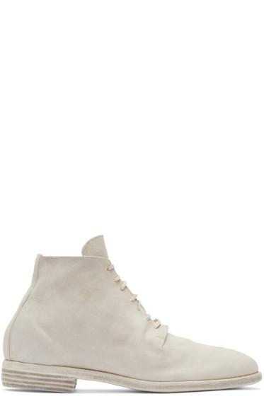 Guidi - グレー スエード ディストレス ブーツ