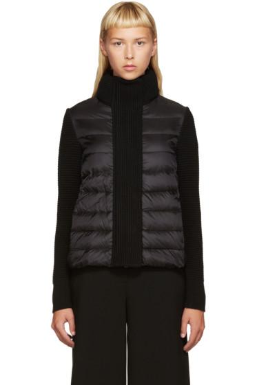 Moncler - Black Down & Knit Jacket