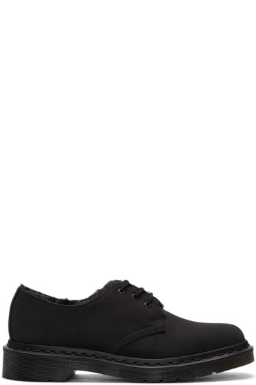 Dr. Martens - Black Fur-Lined Mono Derbys