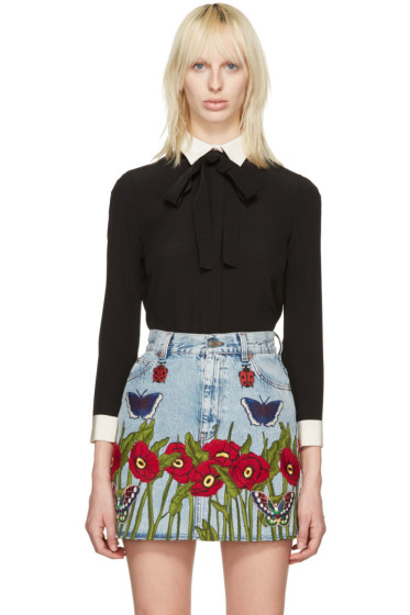 Gucci - Black Ribbon Detail Shirt