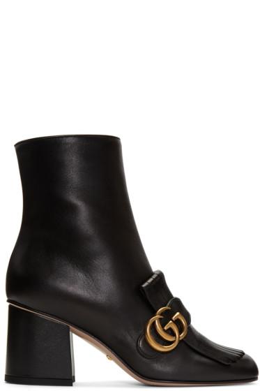 Gucci - Black Marmont Fringe Boots