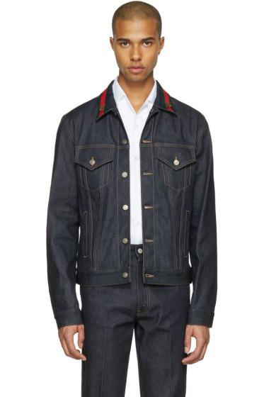 Gucci - Blue Denim Bee Jacket