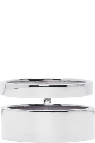 Repossi - White Gold Double Band Berbere Ring