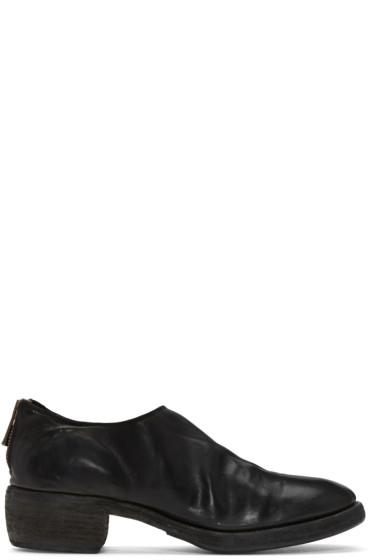 Guidi - ブラック レザー ブーツ