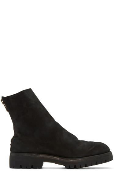 Guidi - ブラック スエード ブーツ