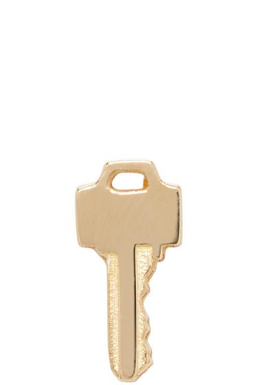 Lauren Klassen - Gold Tiny Key Earring