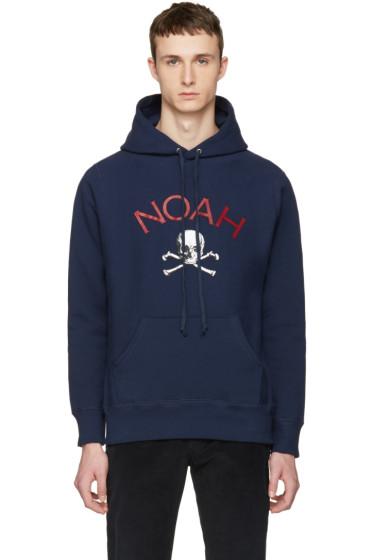 Noah NYC - Navy Jolly Roger Hoodie