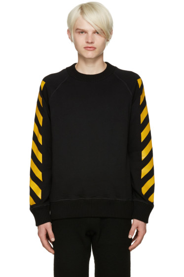 Moncler O - Black Striped Sleeves Sweatshirt