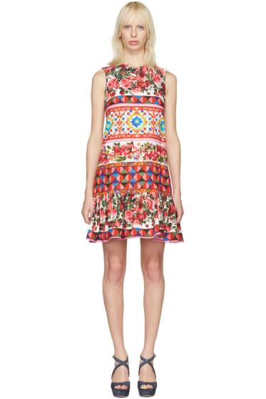 Dolce & Gabbana - Pink Floral Mosaic Dress