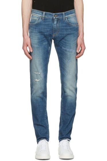 Dolce & Gabbana - Blue Distressed Jeans