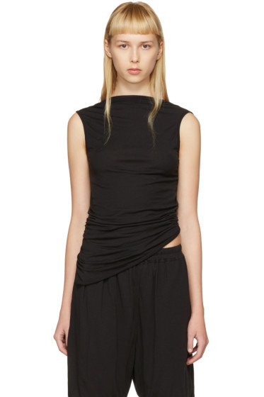 Rick Owens Lilies - Black Backless Tank Top