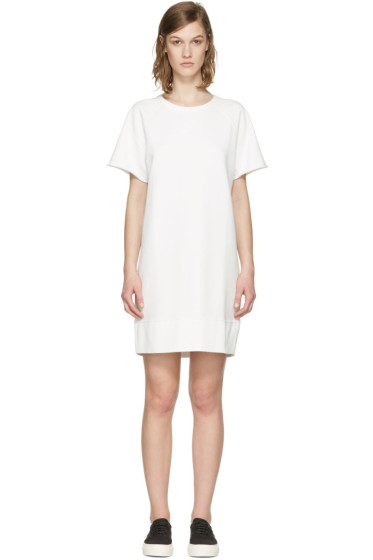Rag & Bone - White French Terry Pullover Dress