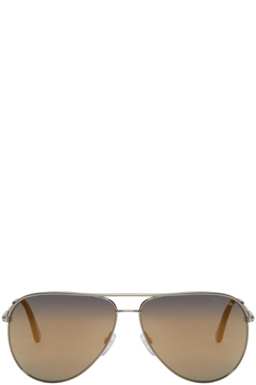 Tom Ford - Gunmetal Erin Aviator Sunglasses