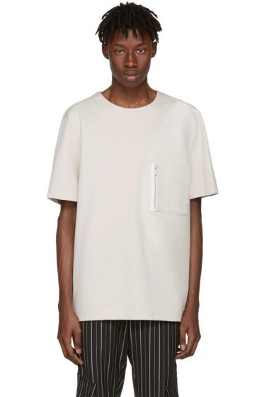 Public School - Beige Pylo T-Shirt