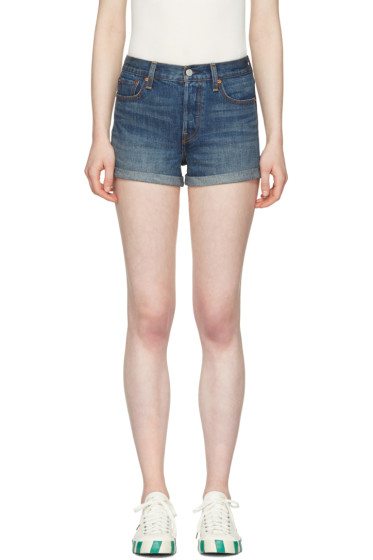 Levi's - Blue Denim Wedgie Fit Shorts