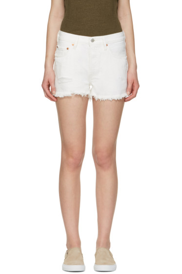 Levi's - White Denim 501 Shorts