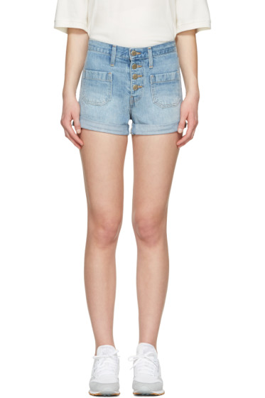 Levi's - Blue Denim Orange Tab Shorts