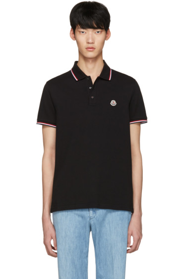 Moncler - Black Maglia Polo