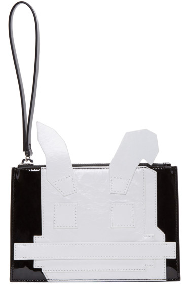 McQ Alexander McQueen - Black & White Electro Bunny Pouch