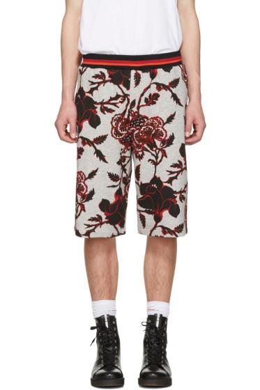 McQ Alexander McQueen - Grey Floral Clean Shorts