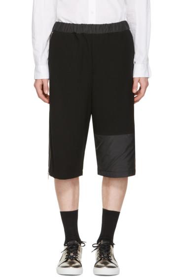 McQ Alexander McQueen - Black Panelled Zipper Shorts