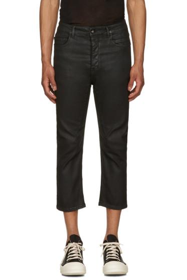 Rick Owens Drkshdw - Black Cropped Torrence Jeans