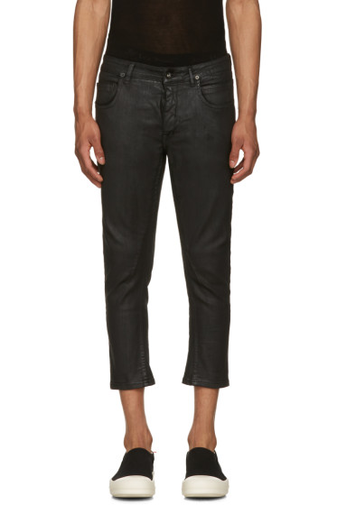 Rick Owens Drkshdw - Black Cropped Detroit Jeans