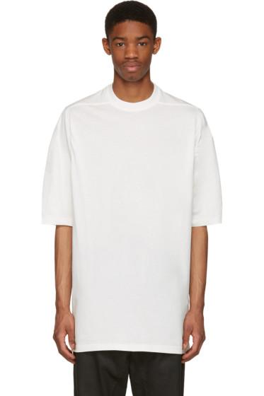 Rick Owens Drkshdw - White Jumbo T-Shirt