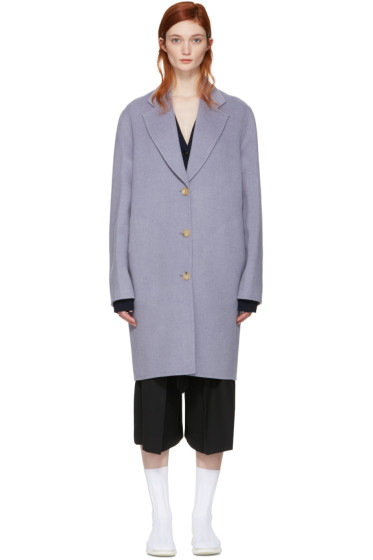 Acne Studios - Purple Landi Doublé Coat