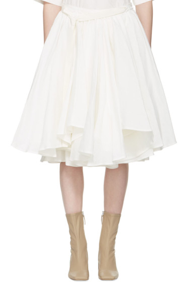 Acne Studios - Ivory Petticoat Pleated Full Skirt