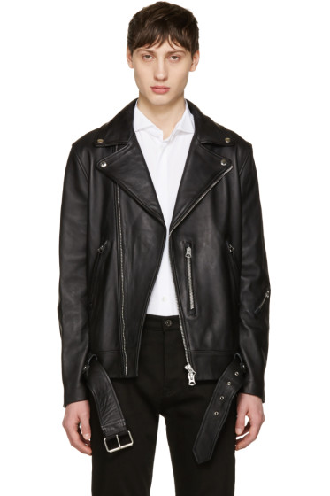 Acne Studios - Black Nate Leather Jacket