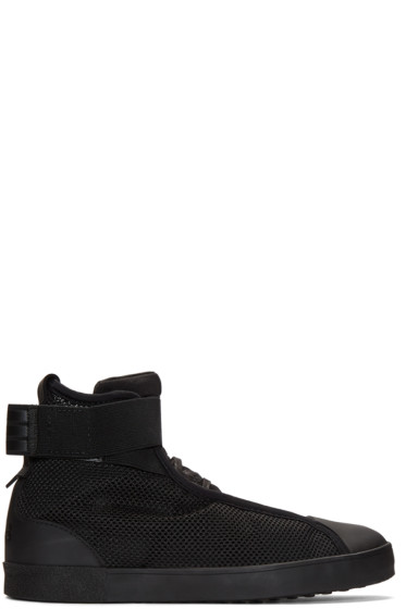 Y-3 - Black Loop Court High-Top Sneakers