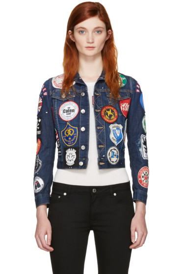 Dsquared2 - Blue Denim Patches Jacket