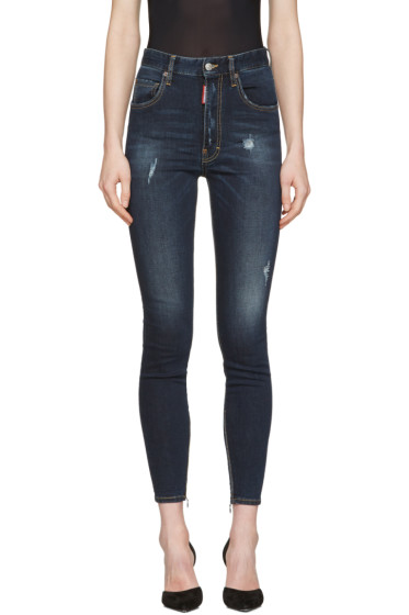 Dsquared2 - Blue Distressed Twiggy Jeans