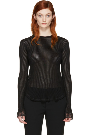 Helmut Lang - Black Lingerie Knit Pullover
