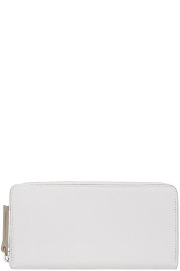 Maison Margiela - White Grained Leather Wallet