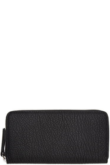 Maison Margiela - Black Grained Leather Wallet