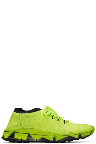 Maison Margiela - Green Painted Knit Sneakers