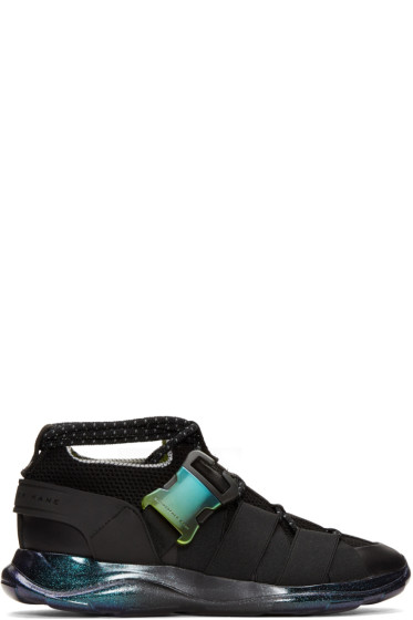 Christopher Kane - Black Lace-Up & Buckle Sneakers
