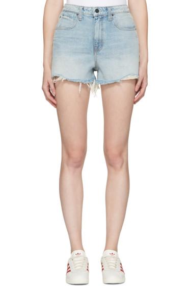 Alexander Wang - Indigo Denim Bite Shorts