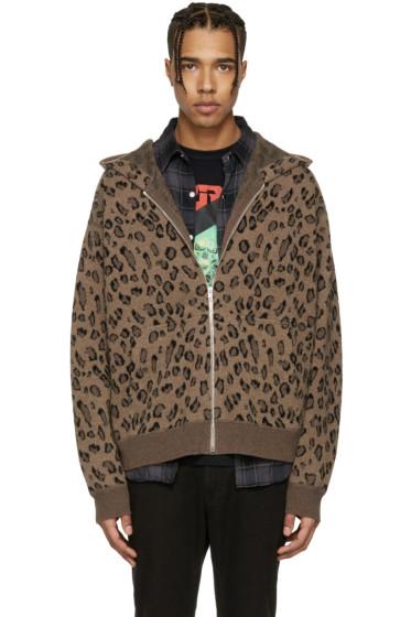 Alexander Wang - Brown Leopard Hoodie