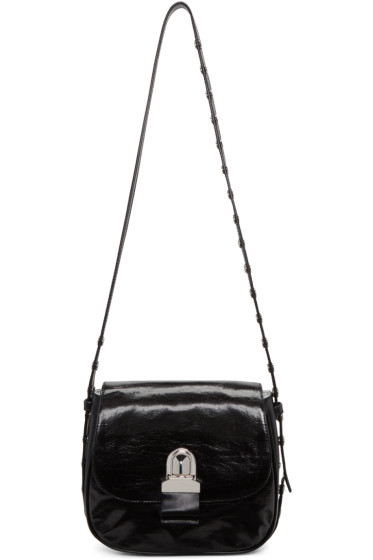 MM6 Maison Margiela - Black Leather Shoulder Bag