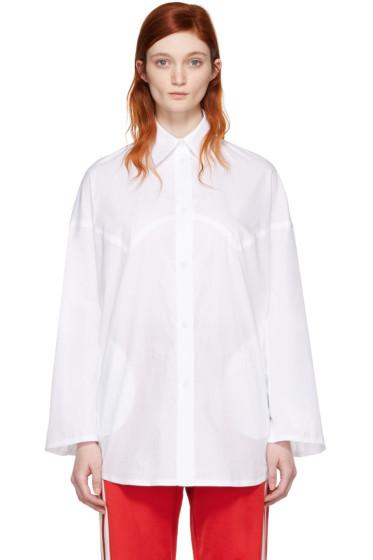 MM6 Maison Margiela - White Poplin Shirt