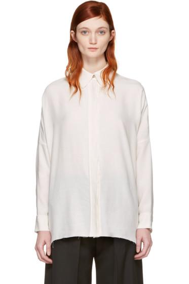 MM6 Maison Margiela - Ivory Raw Edge Shirt