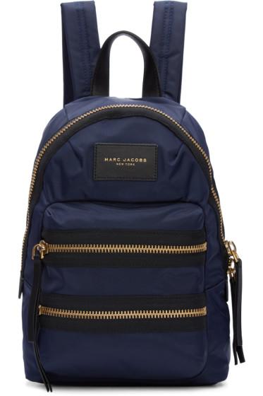 Marc Jacobs - Navy Mini Biker Backpack