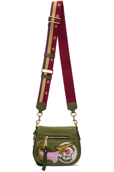 Marc Jacobs - Green Patchwork Small Nomad Bag
