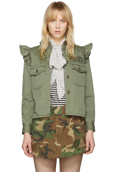Marc Jacobs - Green Shoulder Ruffle Jacket