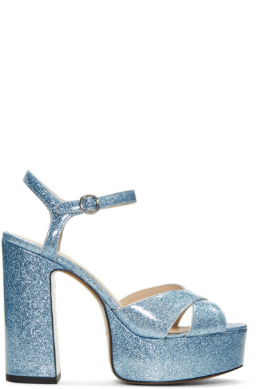 Marc Jacobs - Blue Glitter Lust Platform Sandals