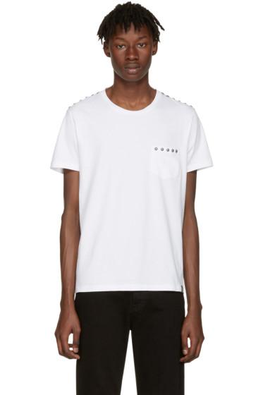 Marc Jacobs - White Studded Pocket T-Shirt